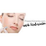 tratamento facial com ácido hialurônico Vila Parque São Jorge